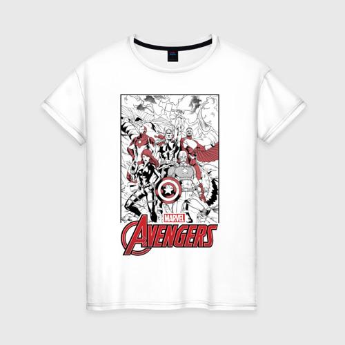 Женская футболка хлопок Мстители