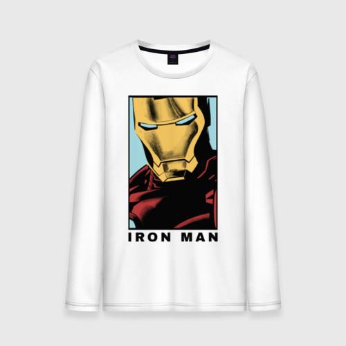 Мужской лонгслив хлопок Iron Man