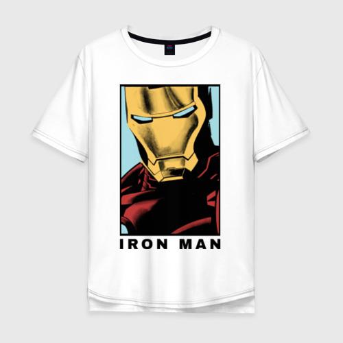 Мужская футболка хлопок Oversize Iron Man