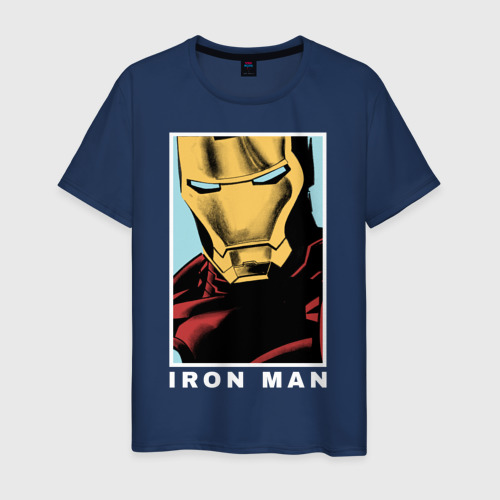 Мужская футболка хлопок IRON MAN poster