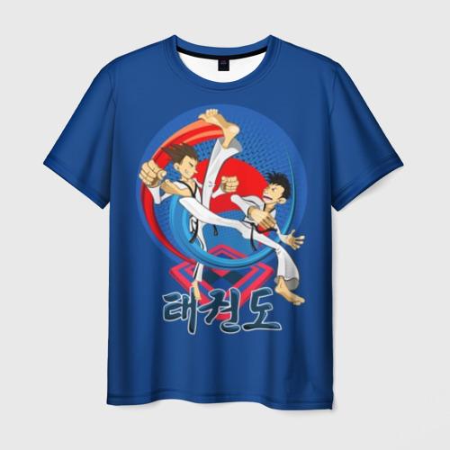 Мужская футболка 3D Taekwondo