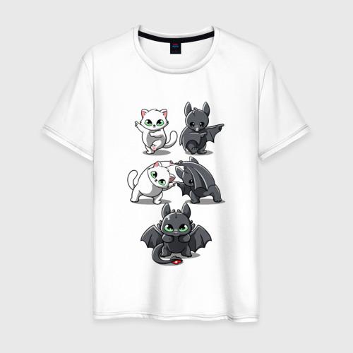 Мужская футболка хлопок Как приручить дракона