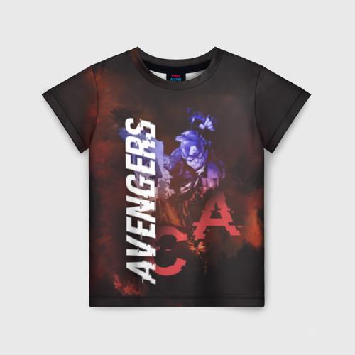 Детская футболка 3D Captain America Avengers