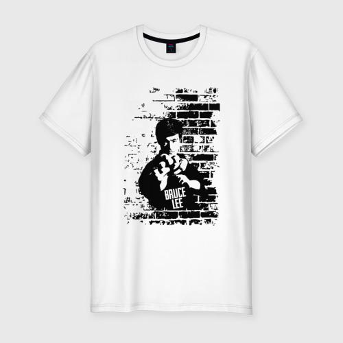 Мужская футболка хлопок Slim Брюс Ли