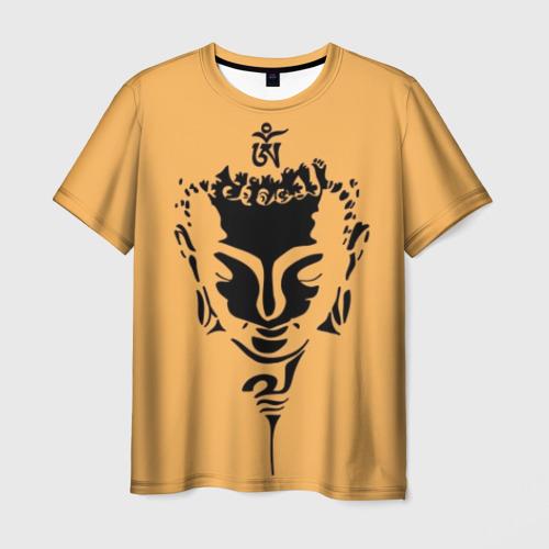 Мужская футболка 3D Будда