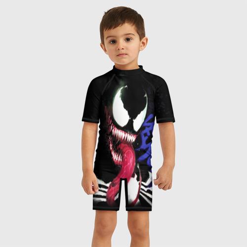 Детский купальный костюм 3D Venom