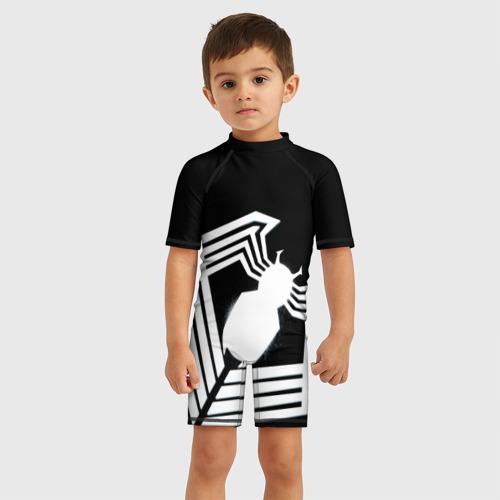 Детский купальный костюм 3D Venom spider