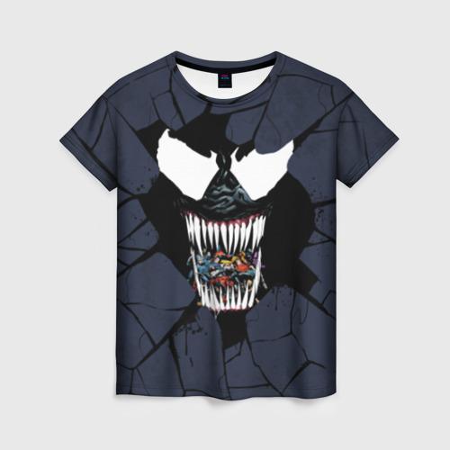 Женская футболка 3D Веном