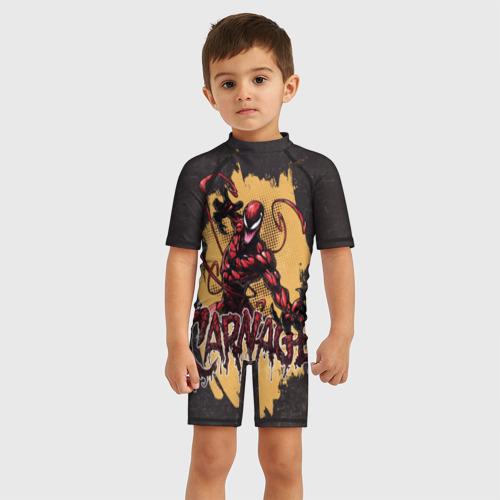 Детский купальный костюм 3D CARNAGE