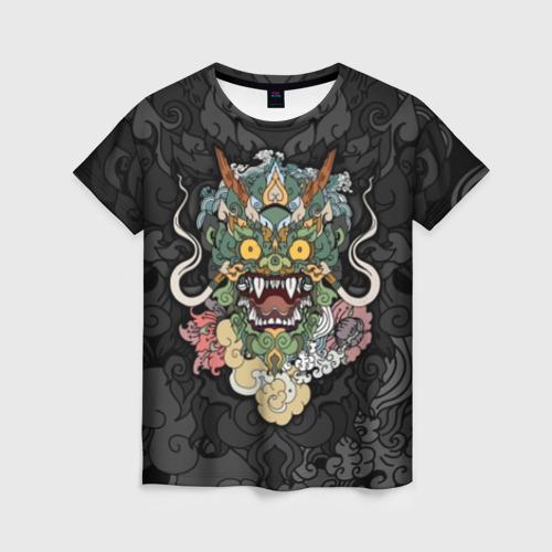 Женская футболка 3D Дракон