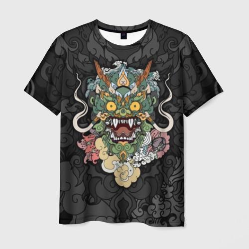 Мужская футболка 3D Дракон