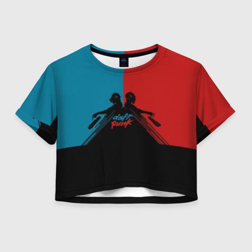 Женская футболка Crop-top 3D Daft Punk
