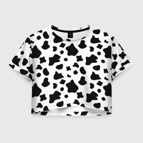 Женская футболка Crop-top 3D Корова