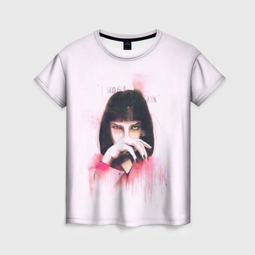 Женская футболка 3D Pulp Fiction - Art 1