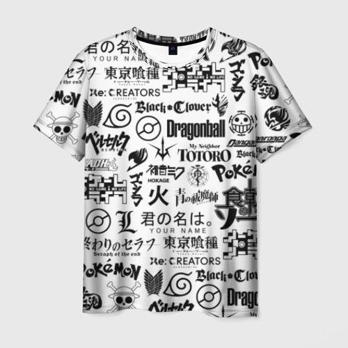 Мужская футболка 3D ЛОГОТИПЫ АНИМЕ
