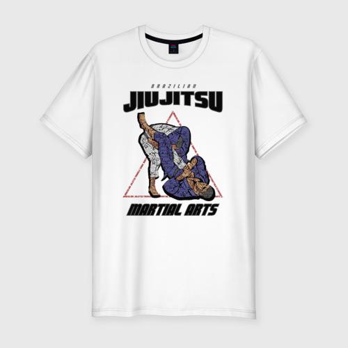 Мужская футболка хлопок Slim Джиу-джитсу