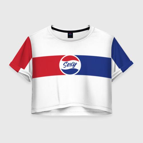 Женская футболка Crop-top 3D Sexy