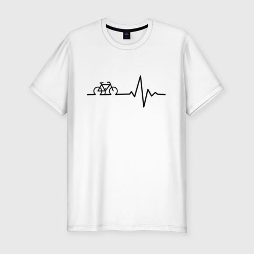 Мужская футболка хлопок Slim Велоспорт 1