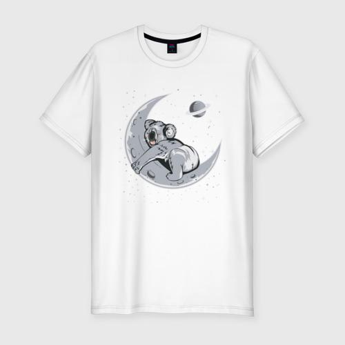 Мужская футболка хлопок Slim Спящая коала