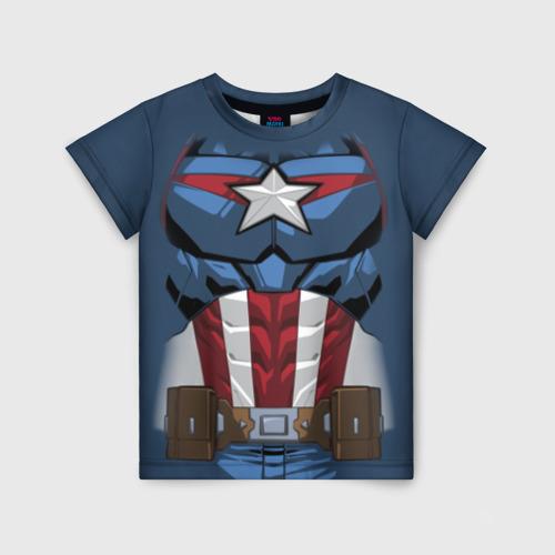 Детская футболка 3D Captain America costume