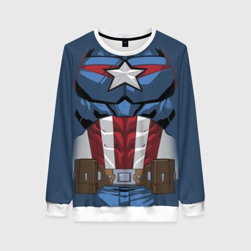 Женский свитшот 3D Captain America costume