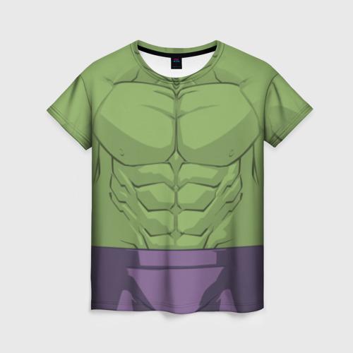 Женская футболка 3D Hulk costume