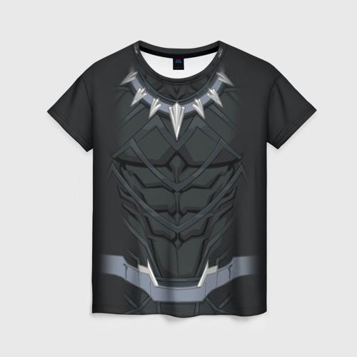 Женская футболка 3D Black panther costume