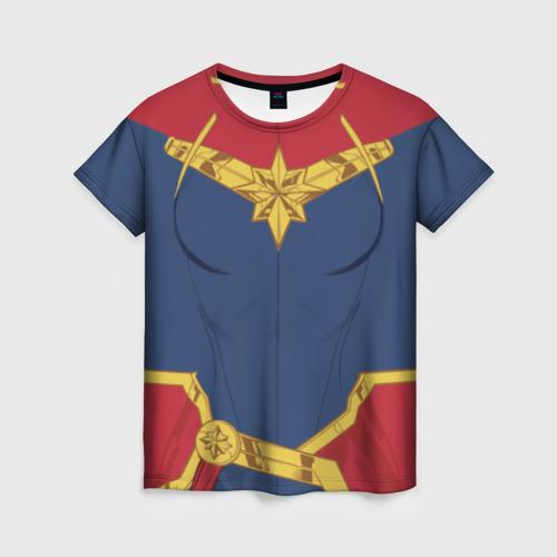 Женская футболка 3D Capitan Marve costume