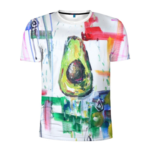 Мужская футболка 3D спортивная Авокадо авангард