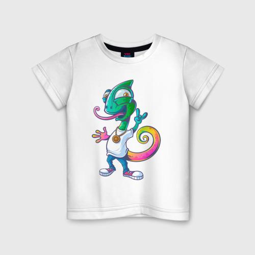 Детская футболка хлопок Хамелеон