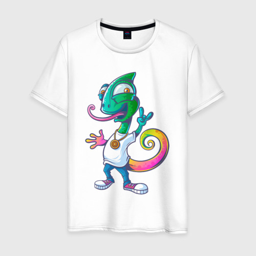 Мужская футболка хлопок Хамелеон