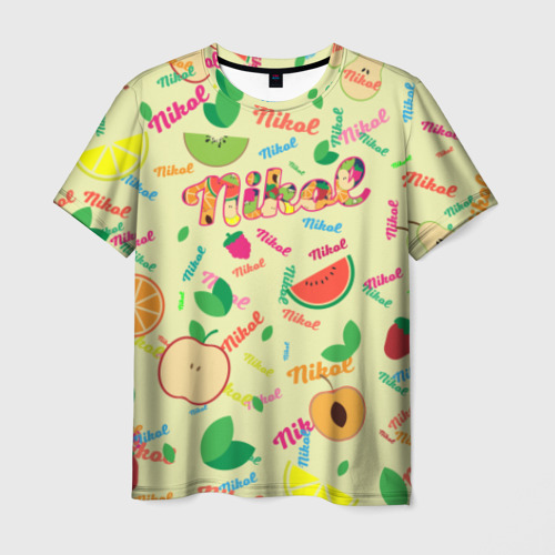 Мужская футболка 3D Nikol Fruits boom!