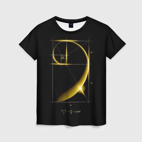 Женская футболка 3D Золотое сечение