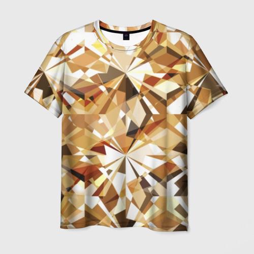 Мужская футболка 3D Желтые бриллианты
