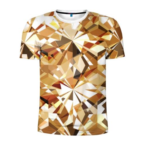 Мужская футболка 3D спортивная Желтые бриллианты