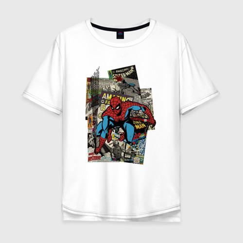 Мужская футболка хлопок Oversize Spider-man comics