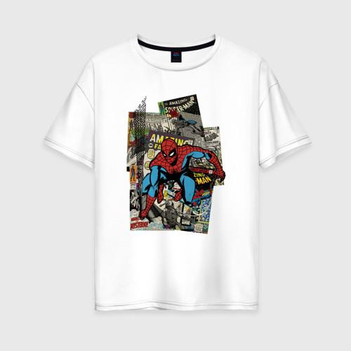 Женская футболка хлопок Oversize Spider-man comics