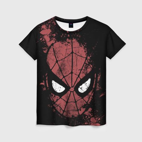 Женская футболка 3D Spider-man splashes