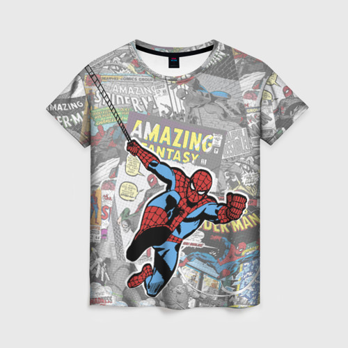 Женская футболка 3D Spider-man