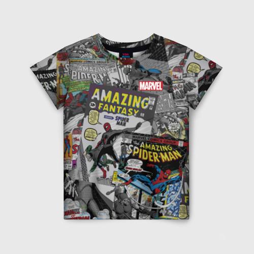 Детская футболка 3D Spider-man comics