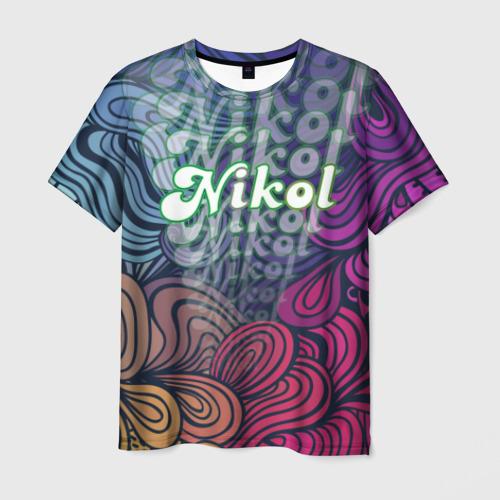 Мужская футболка 3D Nikol Absract