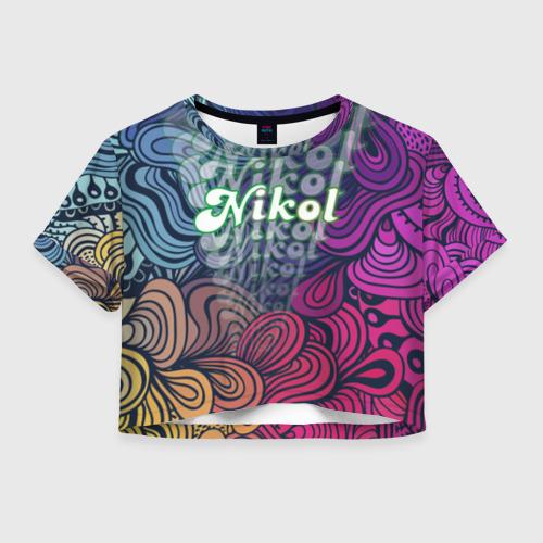 Женская футболка Crop-top 3D Nikol Absract