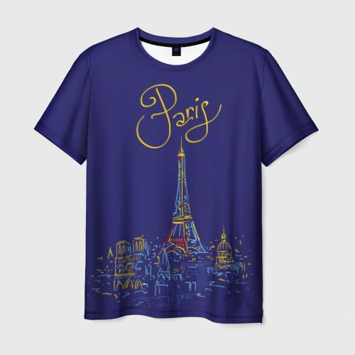 Мужская футболка 3D Париж