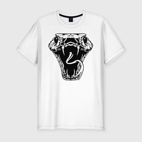 Мужская футболка хлопок Slim Змея