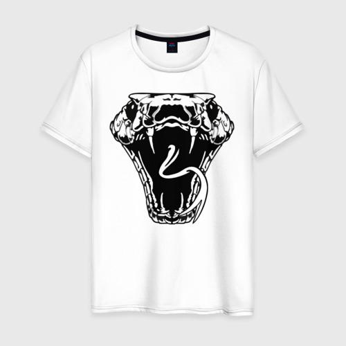 Мужская футболка хлопок Змея