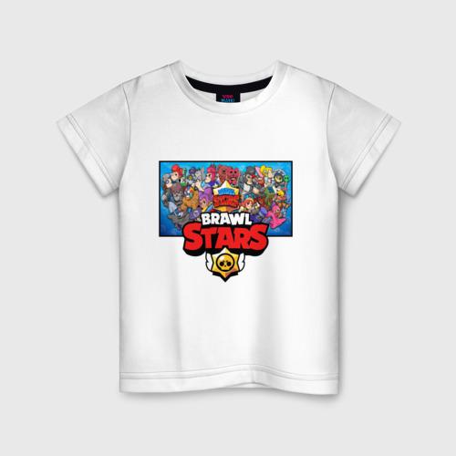 Детская футболка хлопок BRAWL STARS   БРАВЛ СТАРС
