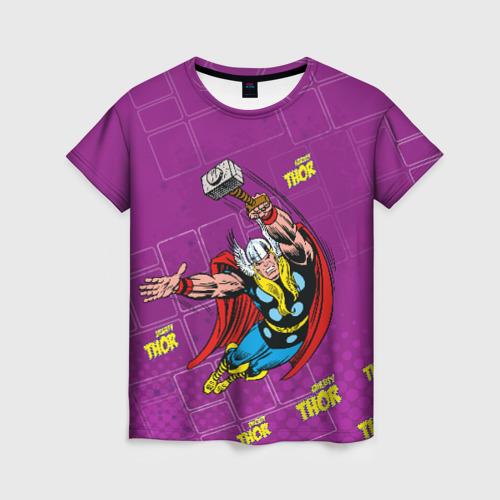 Женская футболка 3D Mighty Thor