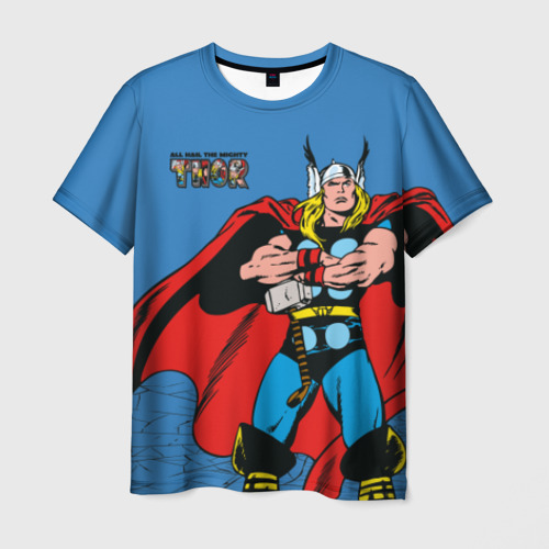 Мужская футболка 3D All hail the mighty Thor