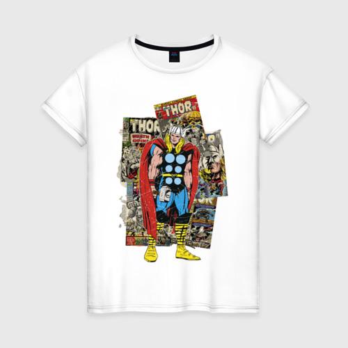 Женская футболка хлопок Тор комикс