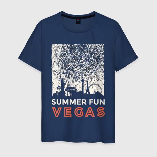 Мужская футболка хлопок Лето Вегас